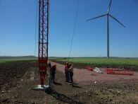 Met mast 120 meters instalation